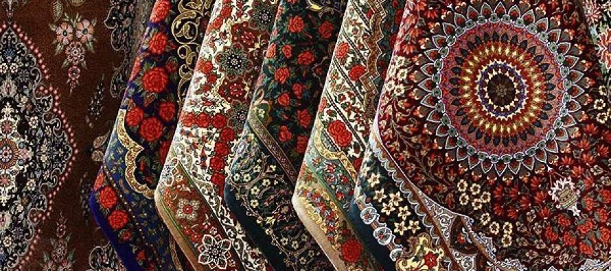 India share in handmade carpets, rugs is 35%